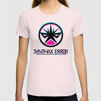 Synthax Error Womens Fitted Tee Light Pink SMALL