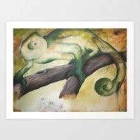 Chameleon Painting Art Print