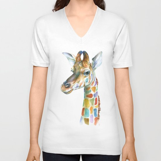 Giraffe V-neck T-shirt