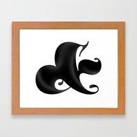 Bold Ampersand Framed Art Print