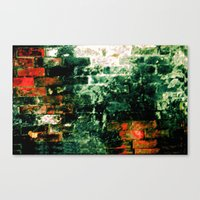 Aged bricks taken inside a Tunnel  Canvas Print