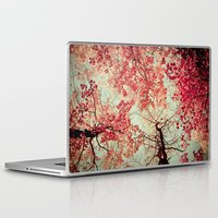 red Laptop & iPad Skins featuring Autumn Inkblot by Olivia Joy StClaire