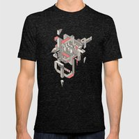 ASW Mens Fitted Tee Tri-Black SMALL