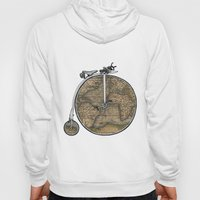 Penny Farthing Map Hoody