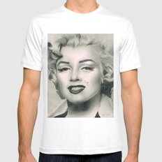Marilyn Monroe Mens Fitted Tee White SMALL