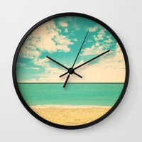 Retro Beach Wall Clock