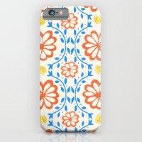 Orange Flower Pattern iPhone 6 Slim Case