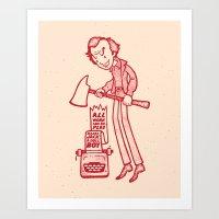 Dull Boy Art Print