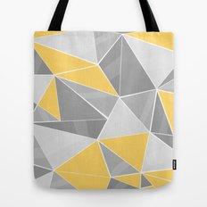 Pattern, grey - yellow Tote Bag
