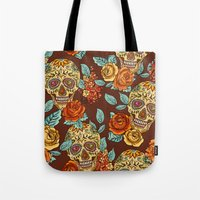 Sugar Skull Pattern Tote Bag