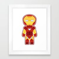 Chibi Iron Man Framed Art Print
