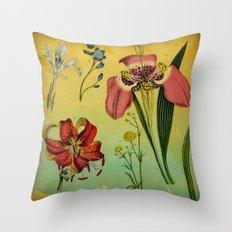 Lily & Iris Throw Pillow