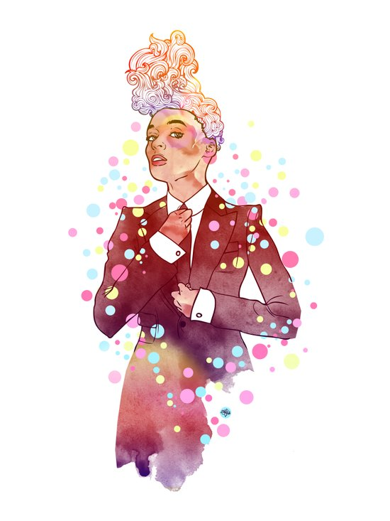 Janelle Monae's Neon Dream Art Print