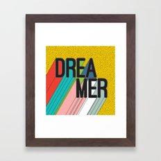 Dreamer Typography Color Poster Dream Imagine Framed Art Print