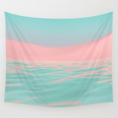 Pink Beach Wall Tapestry