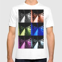 Reflections Of Faded Gla… Mens Fitted Tee White SMALL