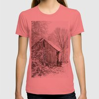 The Wooden Shed Womens Fitted Tee Pomegranate SMALL