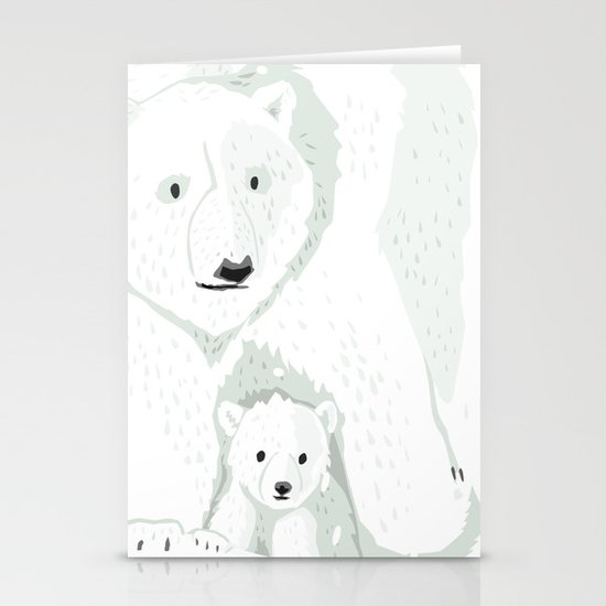 The White Bears and the Tin Soldier Stationery Card