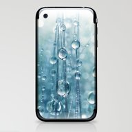 iPhone & iPod Skin featuring Blue Grass Drops II by Sharon Johnstone