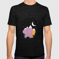 Let sleeping foxes lie Mens Fitted Tee Tri-Black SMALL