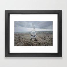 Corona on the beach Framed Art Print