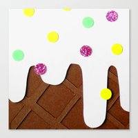 Ice-cream Papercut Canvas Print