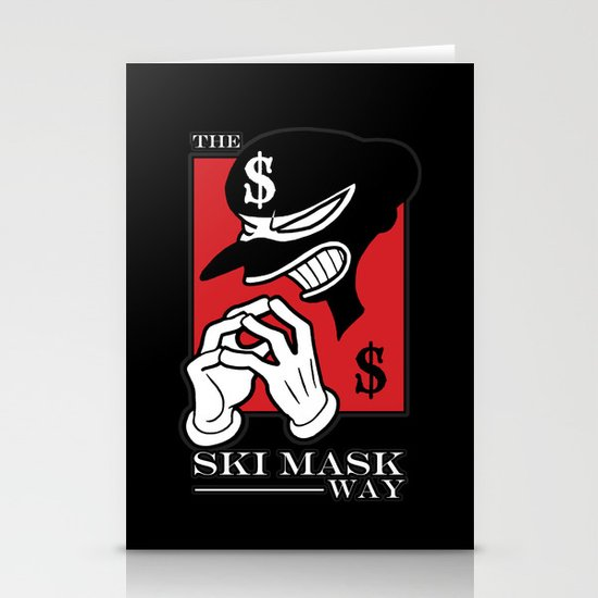 The Ski Mask Way Stationery Card