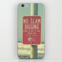 No Clam Digging iPhone & iPod Skin