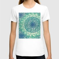 blue T-shirts featuring Emerald Doodle by micklyn