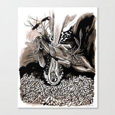 A dream of plague dogs Canvas Print