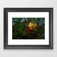 spidery red Framed Art Print