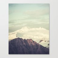 Canvas Print featuring Two Mountains by Hraun Photography