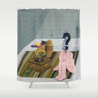 The same old record. Question series Shower Curtain
