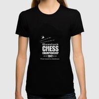 Shawshank Chess Championship Womens Fitted Tee Black SMALL