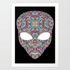 Rainbow Alien Art Print