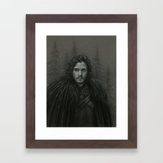 KING IN THE NORTH Framed Art Print