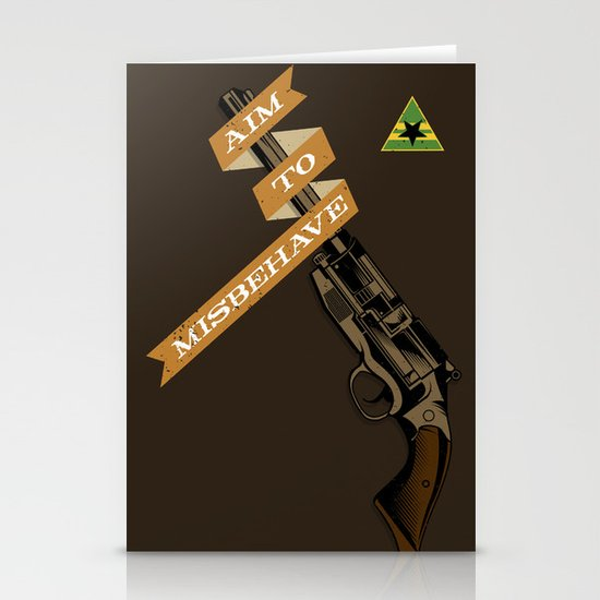 Aim to Misbehave Stationery Card