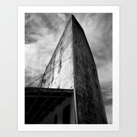Westbottoms Old Curved Building Art Print