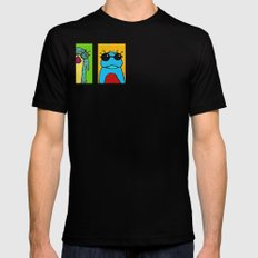 Guys with Glasses Black Mens Fitted Tee SMALL