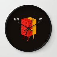 Wall Clock featuring I'll Never Lego by Ilovedoodle