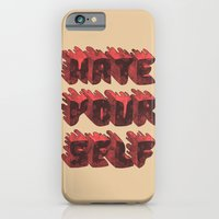 iPhone & iPod Case featuring Hate Yourself by Hector Mansilla