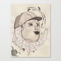 Cabello Blanco Canvas Print