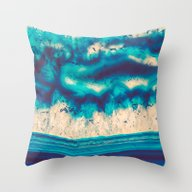 Blue Agate Water Element… Throw Pillow