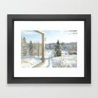 Finland in the winter #3 - Fiskars Artist Village  Framed Art Print