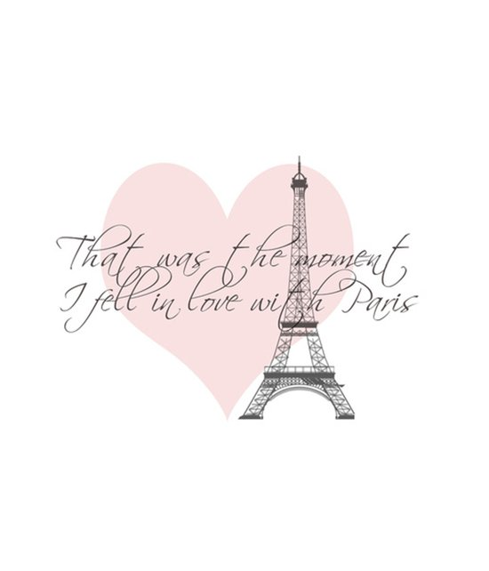 That was the moment I fell in Love with Paris  Art Print