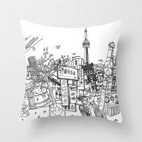 Toronto! (Dark T-shirt V… Throw Pillow