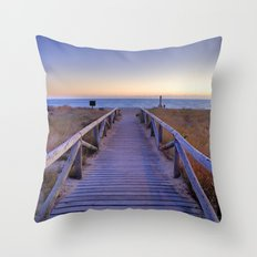 The path..., the beach.... Throw Pillow