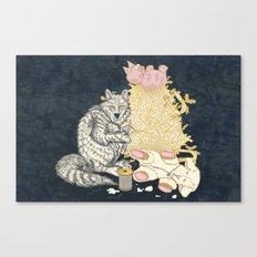 Big Bad Wolf Only Needed a Needle Canvas Print