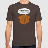 You Can't Make Me Think … Mens Fitted Tee Brown SMALL