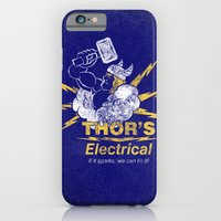 iPhone & iPod Case featuring Thor - Thor's Electrical by subpatch